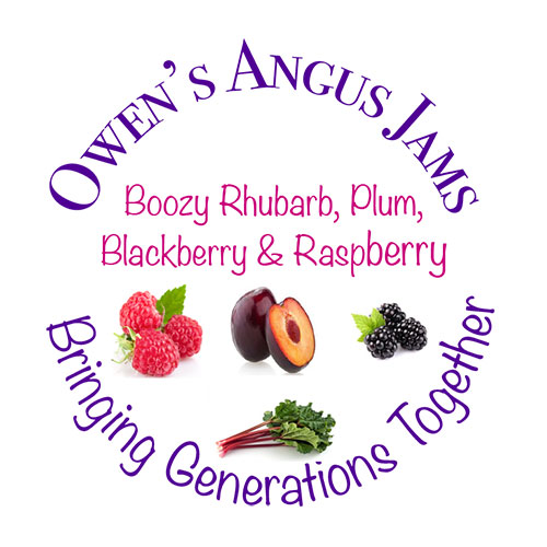 Owen's Angus Boozy Rhubarb, Plum, Blackberry and Raspberry Jam