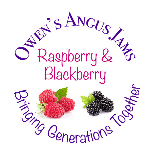 Owen's Angus Raspberry and Blackberry Jam