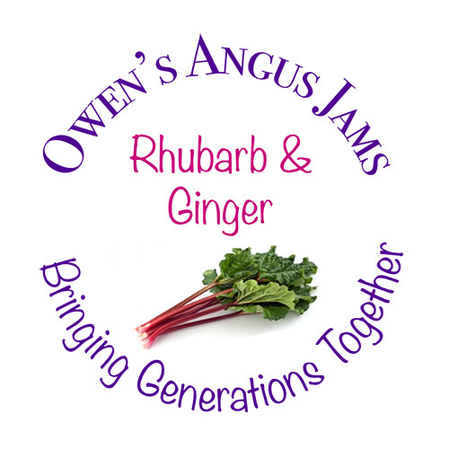 Owen's Angus Rhubarb and Ginger Jam