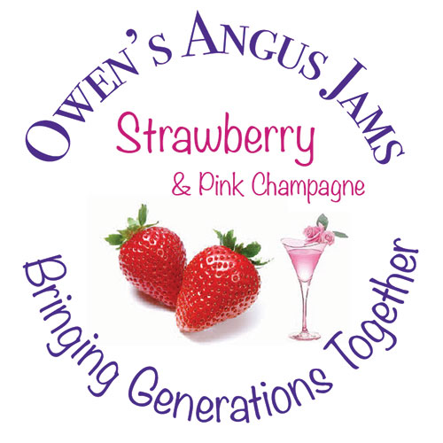 Owen's Angus Strawberry and Pink Champagne Jam